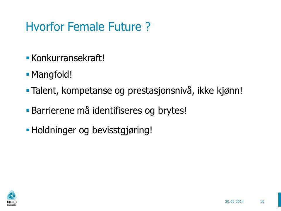 Hvorfor Female Future . Konkurransekraft.  Mangfold.