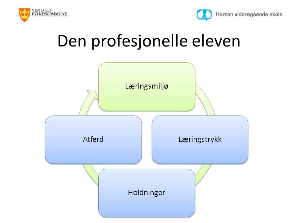 Den profesjonelle eleven LæringsmiljøLæringstrykkHoldningerAtferd