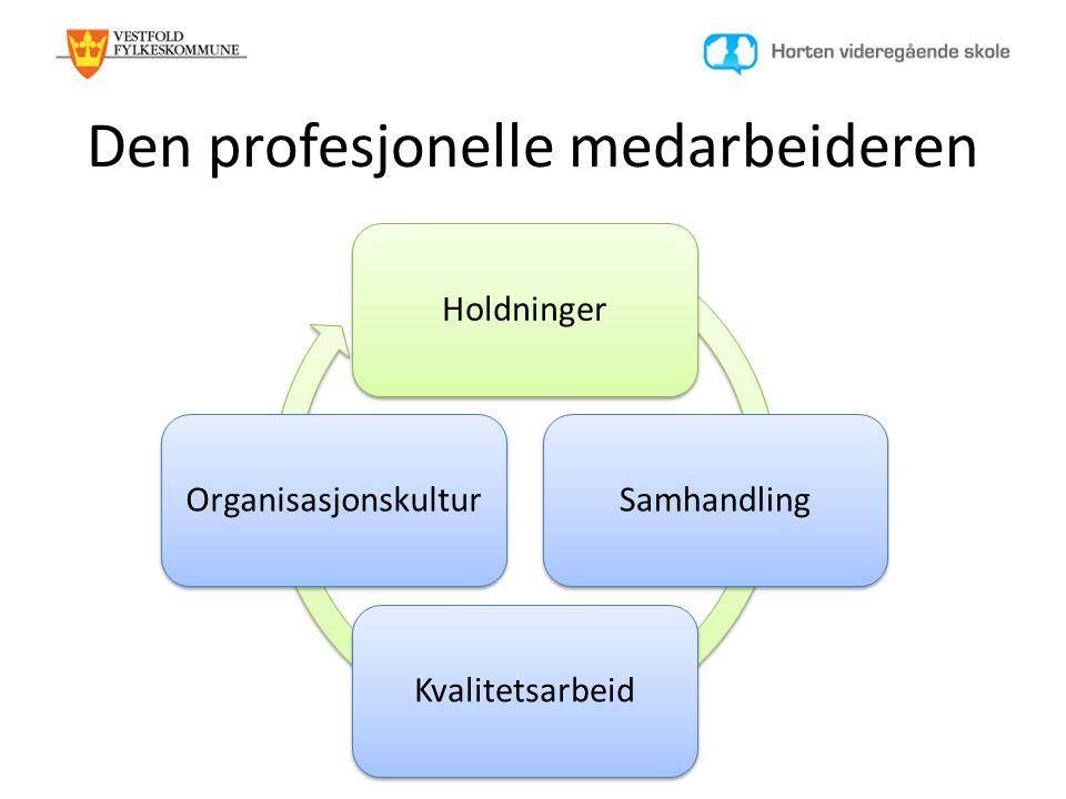 Den profesjonelle medarbeideren HoldningerSamhandlingKvalitetsarbeidOrganisasjonskultur