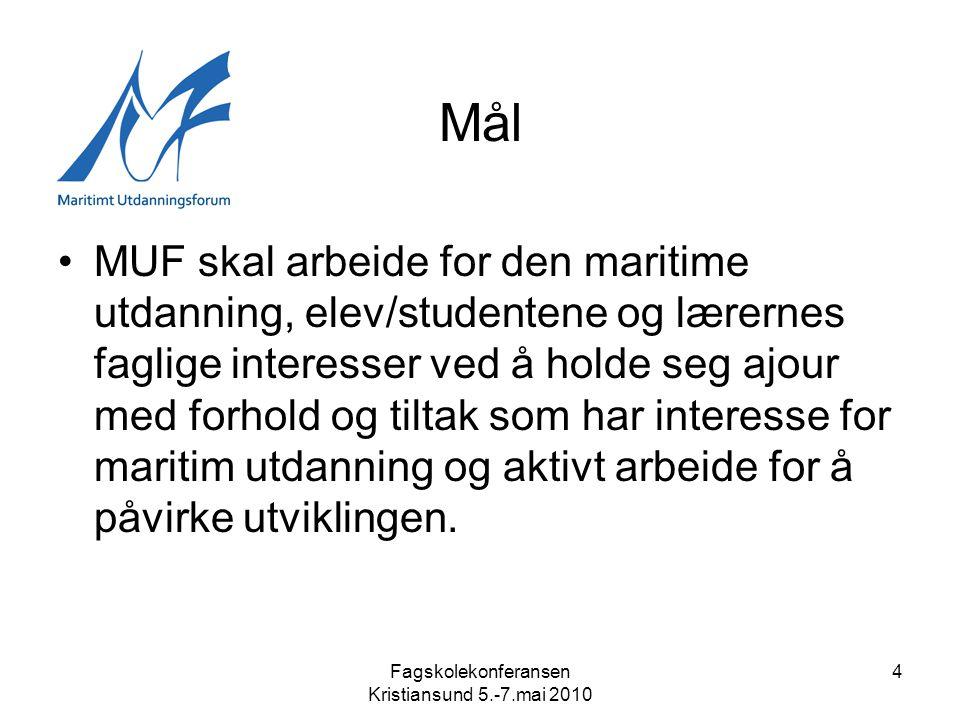Fagskolekonferansen Kristiansund 5.-7.mai 2010 5 Ledelse og representasjon •Styret •RMSB –Nautisk faggruppe –Skipsteknisk faggruppe –NRF, SDIR, KUD, NHD, Utstyrsleverandører, Maritime forum, Div konferanser, etc.