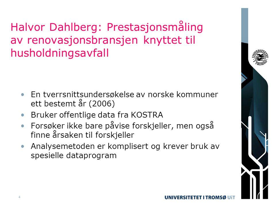 15 Manglende eller ikke troverdige data ble et stort problem •Det var 431 kommuner i Norge i 2006 (430 nå) •Ikke alle kommuner har rapportert inn tall •Noen har tall som ikke er troverdige •Noen kommuner er for små •Til slutt er datamengden vi har brukt