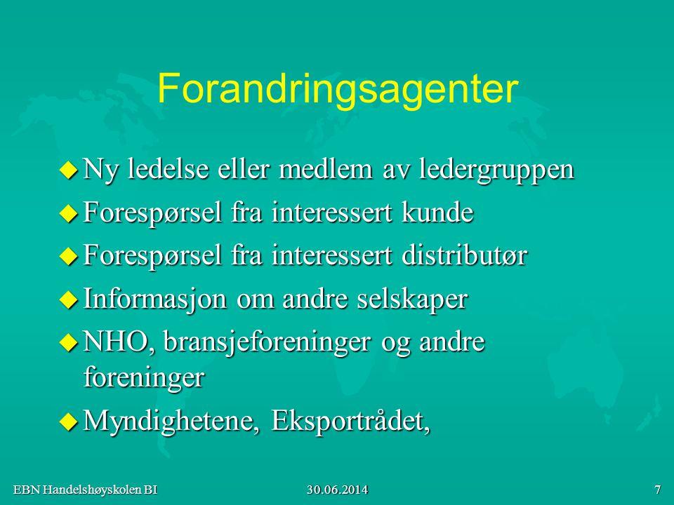 EBN Handelshøyskolen BI 30.06.2014 18 Kværner har 85% utenlandsandel.