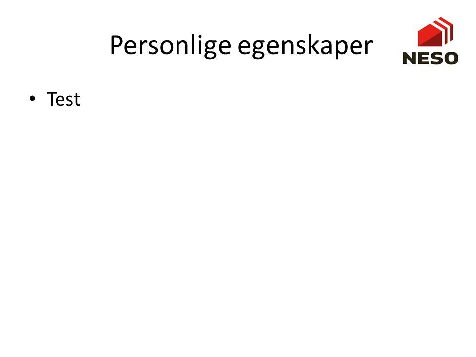 Personlige egenskaper • Test