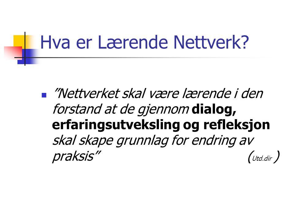 Hva er Lærende Nettverk.