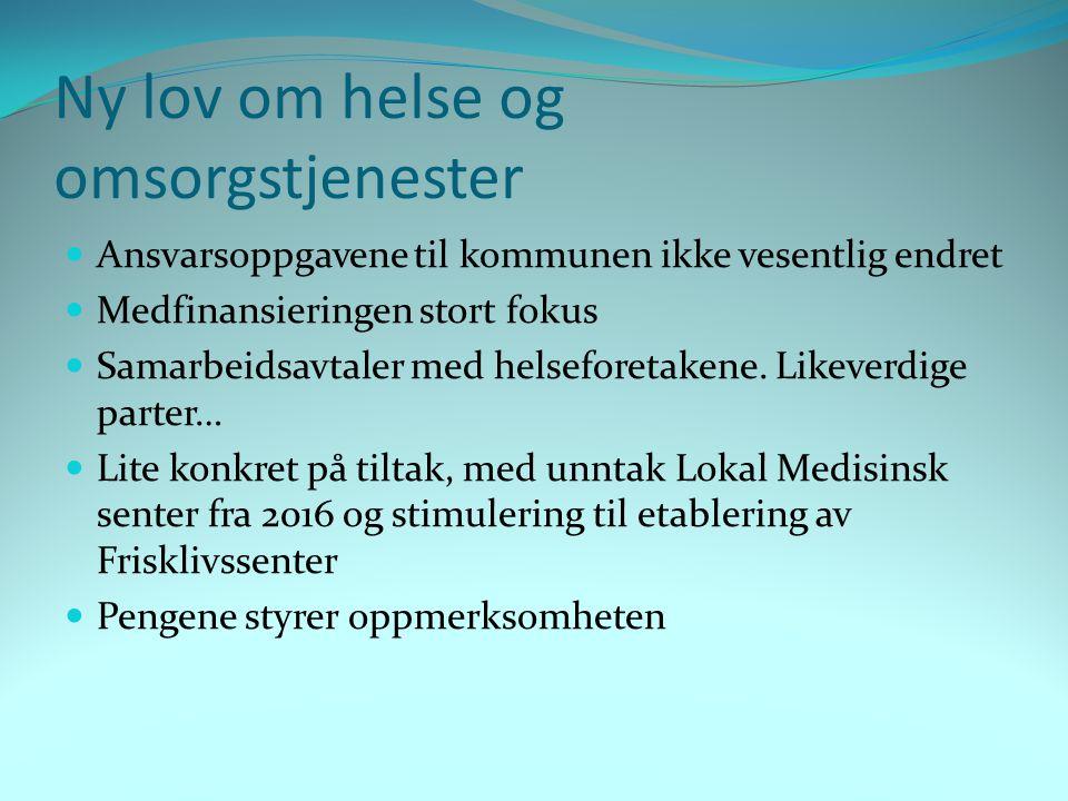Skedsmo kommunes fokus akkurat nå  Utskrivningsklare pasienter  Interkommunalt samarbeid