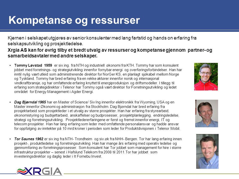 Mam Kompetanse og ressurser NavnHovedkompetanser Tommy LøvstadProsjektledelse.