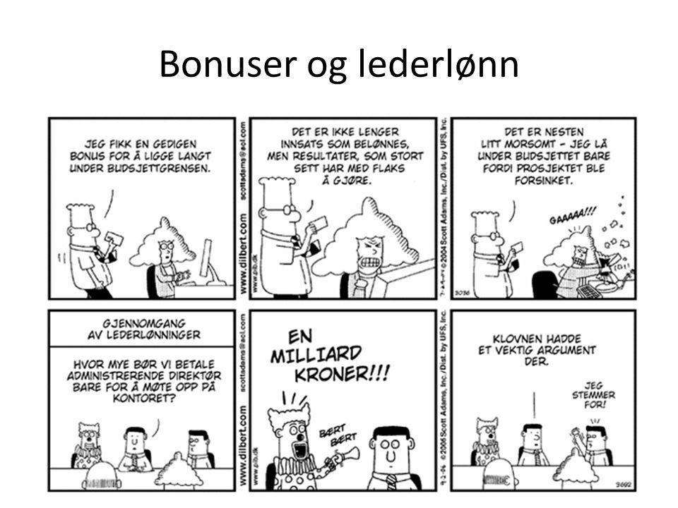 Bonuser og lederlønn