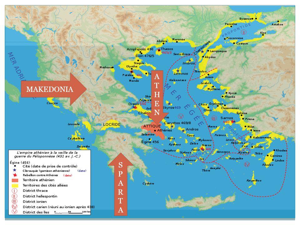 Athen  En av de største bystatene ble opprettet ca 700 f.Kr  Ustabile ledelse og tyrannier over mange år  Førte til politiske reformer  Fra 621 f.Kr ble lover skrevet ned  Solon fikk innført lover for borgerrettigheter og eiendom, og gav folkeforsamlingen mer makt  Athen innførte demokratiet fra 507 f.Kr, under ledelse av Kleistenes  Demokrati = folk(demos) + makt(kratos)  Det første reelle folkestyret