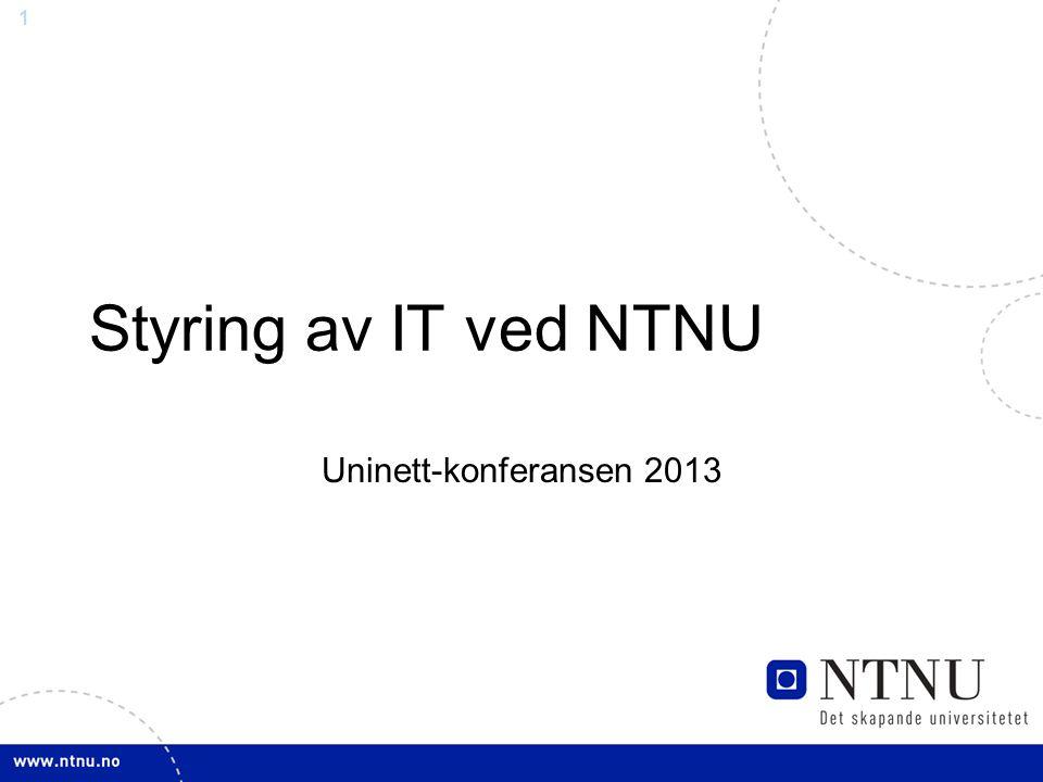 12 Modifisert modell for etablering av IT- prosjekt ved NTNU 12 Ide Analyse av tiltak Konsekvens- analyse Gjennomføring Forslagsstiller Direktør gruppe Prosjektkontor