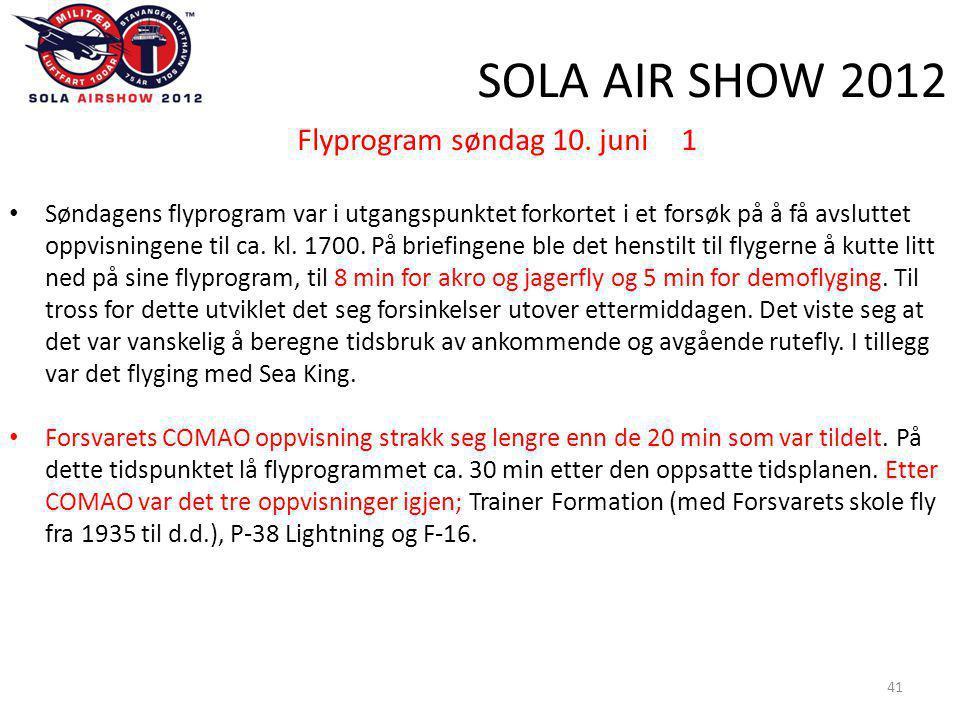 SOLA AIR SHOW 2012 41 Flyprogram søndag 10.