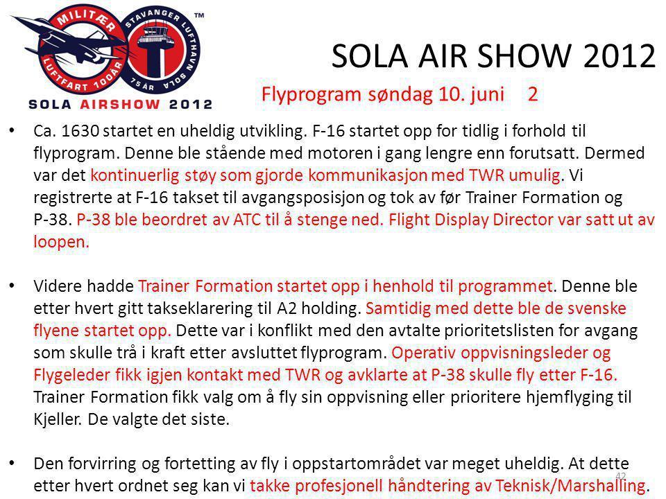 SOLA AIR SHOW 2012 42 • Ca. 1630 startet en uheldig utvikling.