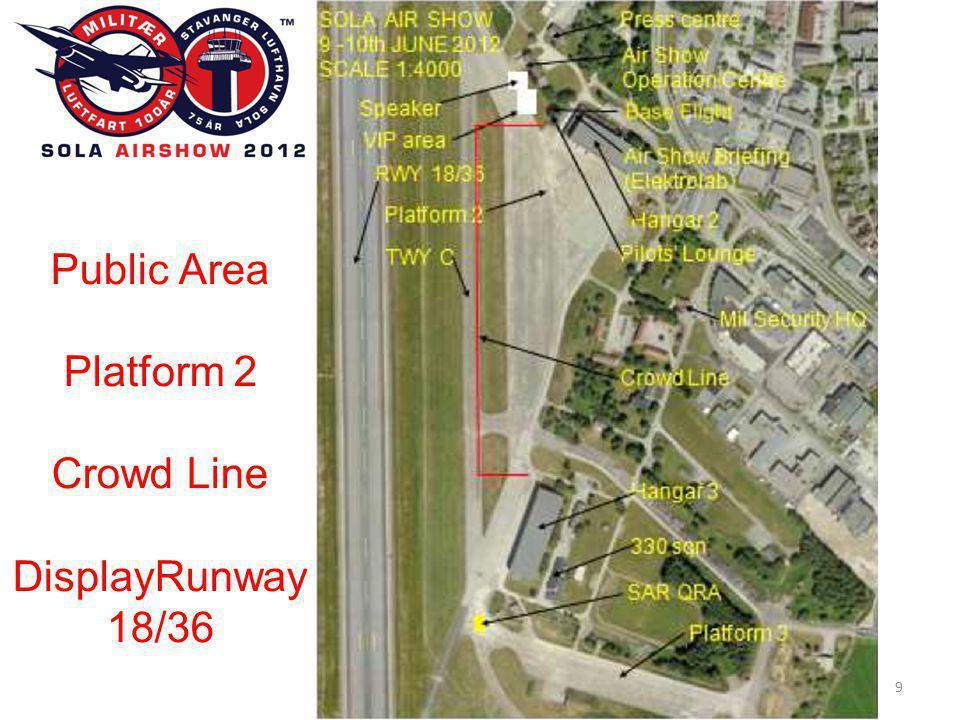 SOLA AIR SHOW 2012 50 Erfaringer fra ATC/Lessons learned1 • Flyprogrammet bør ha større fleksibilitet.
