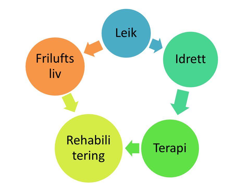Leik Idrett Terapi Rehabili tering Frilufts liv