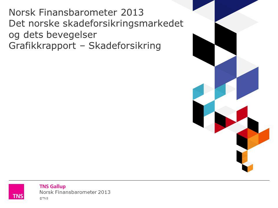 ©TNS Norsk Finansbarometer 2013 Hvordan vil du vurdere skadeforsikringsselskapenes samlede omdømme eller anseelse.