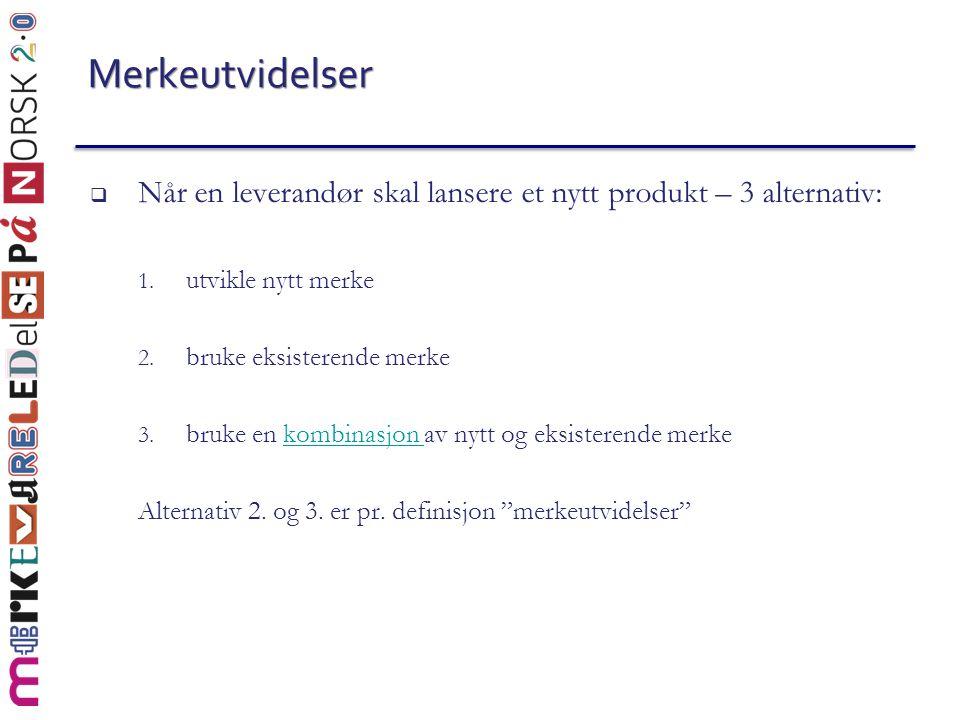 (2) Hva kan mormerket tilføre utvidelseskategorien.