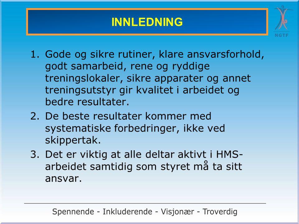 INTERNKONTROLL AV ANLEGG OG UTSTYR 1 1.I det norske næringsliv er det etter loven krav om internkontroll dersom man har noen ansatt.