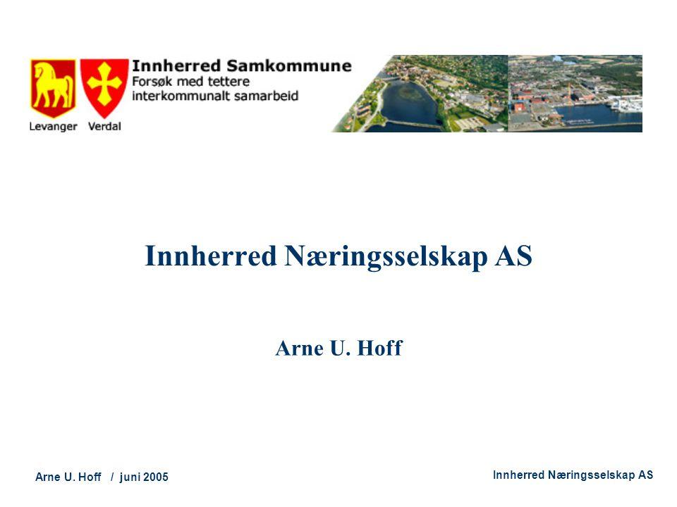 Technology and Society Arne U. Hoff / juni 2005 Innherred Næringsselskap AS Arne U. Hoff