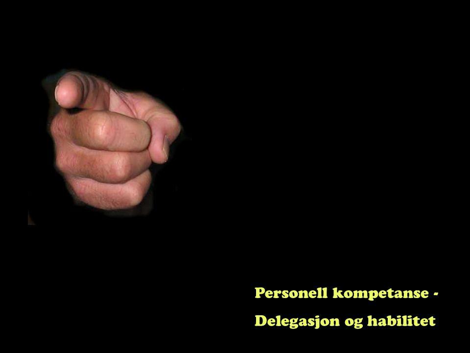 Personell kompetanse - Delegasjon og habilitet