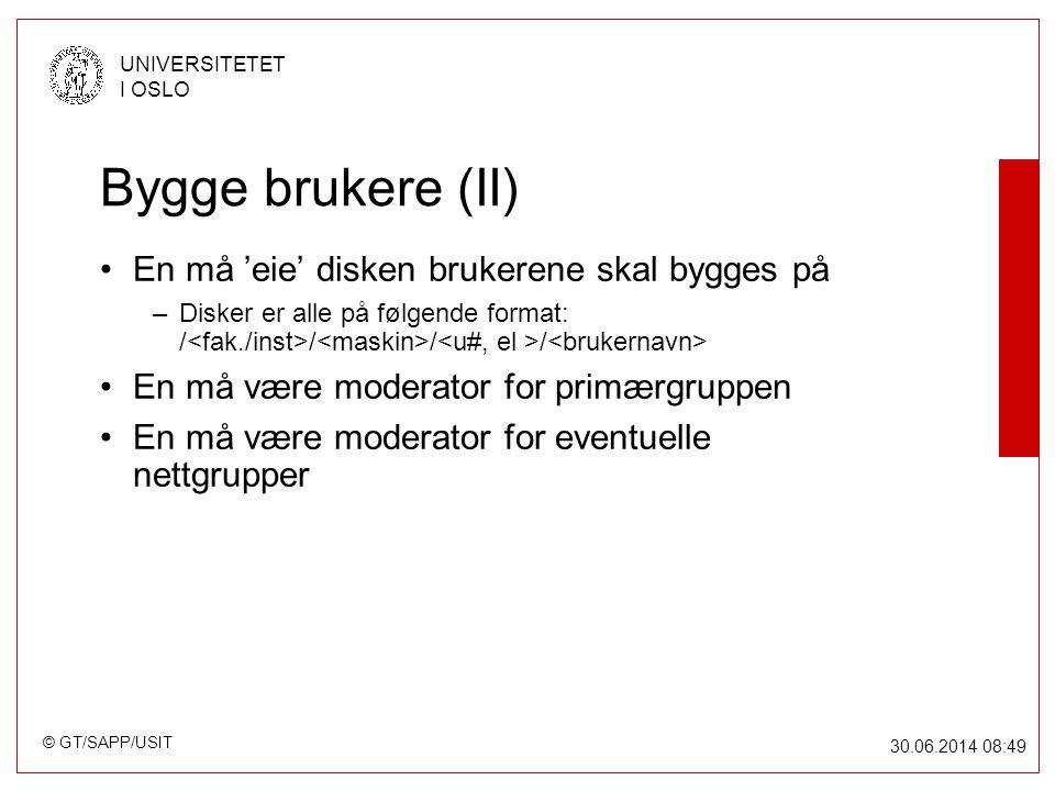 © GT/SAPP/USIT UNIVERSITETET I OSLO 30.06.2014 08:49 Struktur File-server for studenter