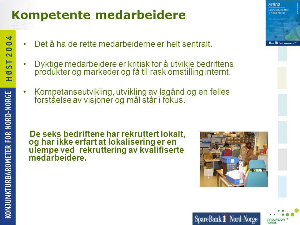 Kompetente medarbeidere •Det å ha de rette medarbeiderne er helt sentralt. •Dyktige medarbeidere er kritisk for å utvikle bedriftens produkter og mark