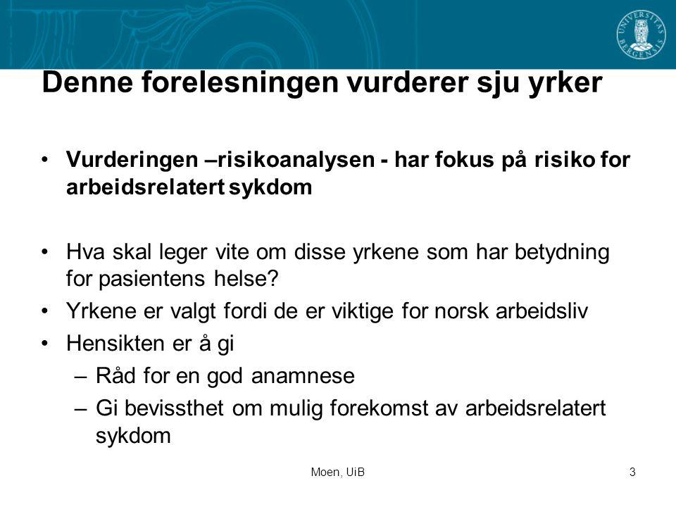 Moen, UiB4 1.Bonden Det er ikke alltid like lett å være bonde i Norge.