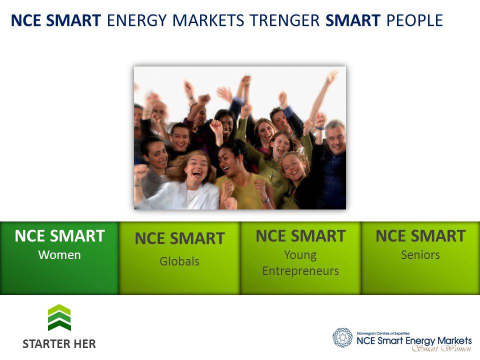 NCE SMART Globals NCE SMART Young Entrepreneurs NCE SMART Seniors NCE SMART Women NCE SMART ENERGY MARKETS TRENGER SMART PEOPLE STARTER HER