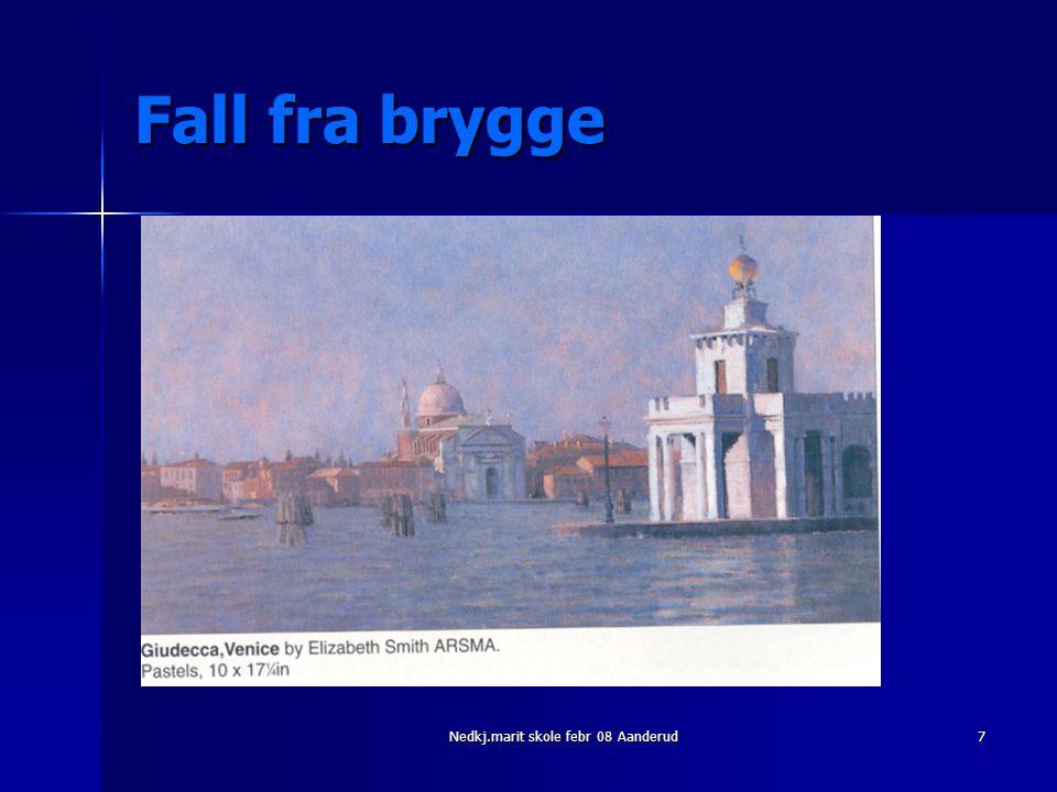 Nedkj.marit skole febr 08 Aanderud7 Fall fra brygge