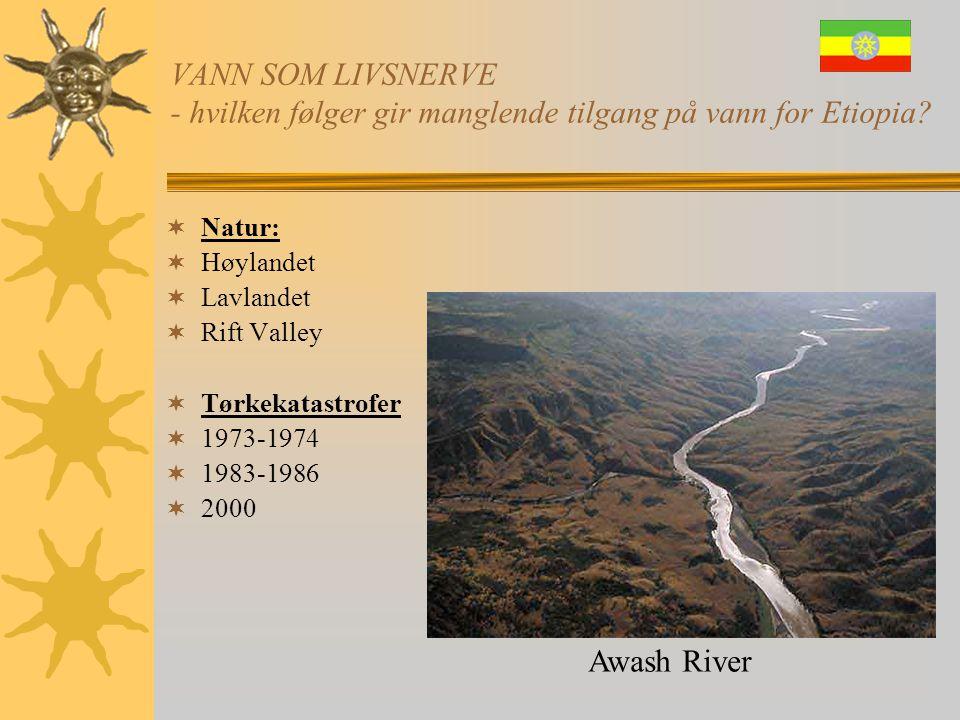 VANN SOM LIVSNERVE - hvilken følger gir manglende tilgang på vann for Etiopia?