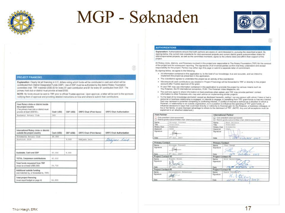 MGP - Søknaden 18 Thor Hægh, ERK