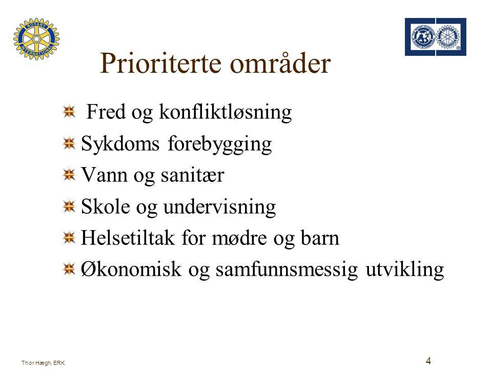 District Simplified Grant Humanitært rettet Korttidsprosjekt Må ikke være påbegynt Prosjekt involvering av rotarianere prioriteres Godkjennelse av distriktets TRF komité Rapportering til TRF Thor Hægh, ERK 5