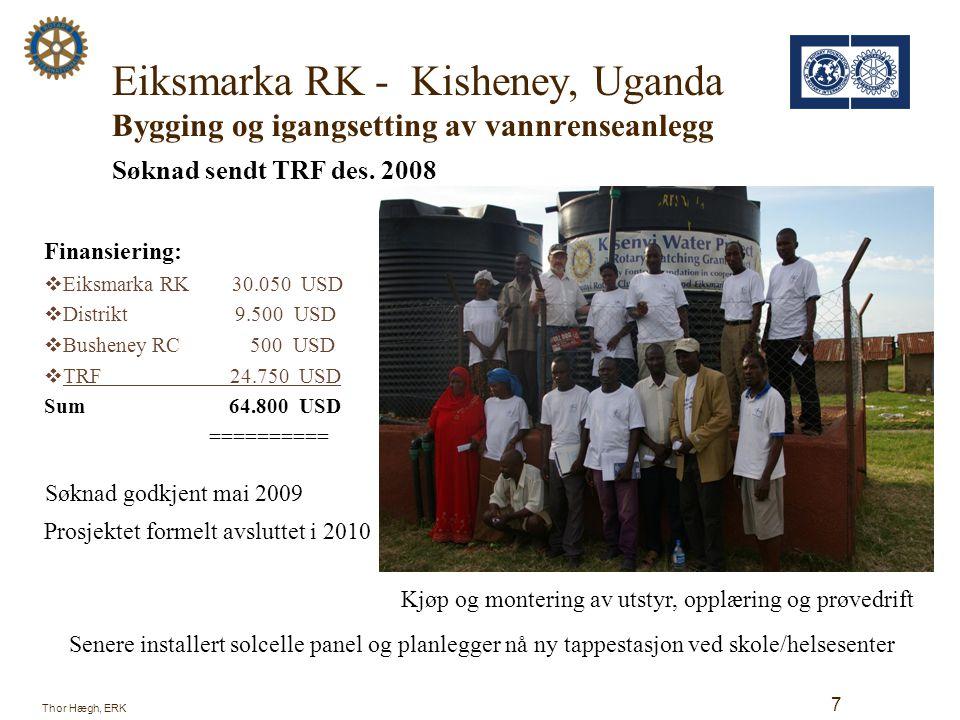 Sandvika RK – Gamalahke D.C, Syd-Afrika Søknad om støtte til innkjøp av utstyr Søknad om Matching Grant sendt 14.