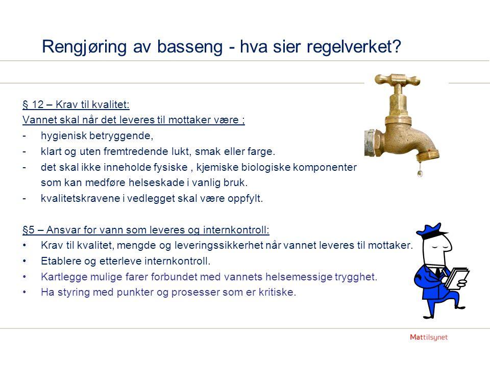 Rengjøring av basseng - hva sier regelverket.