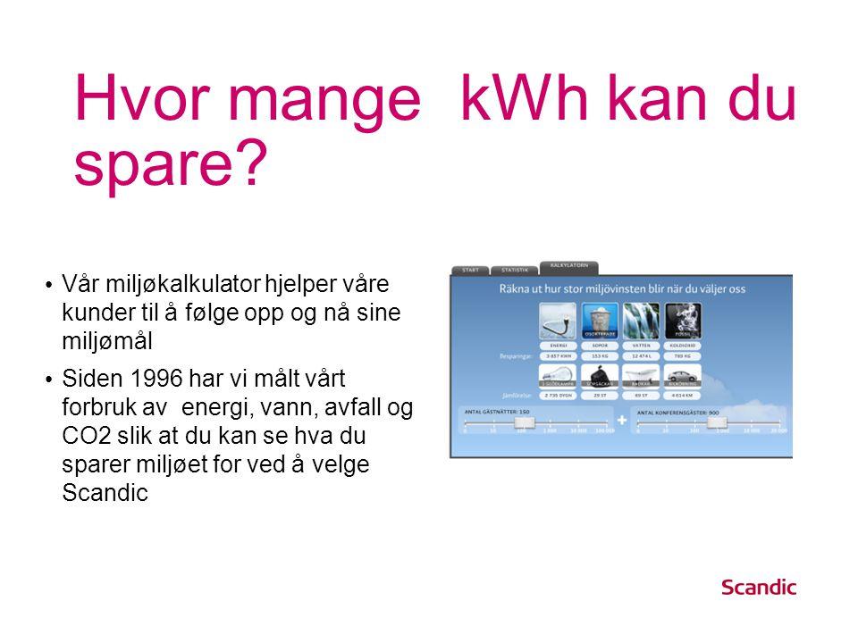 Hvor mange kWh kan du spare.