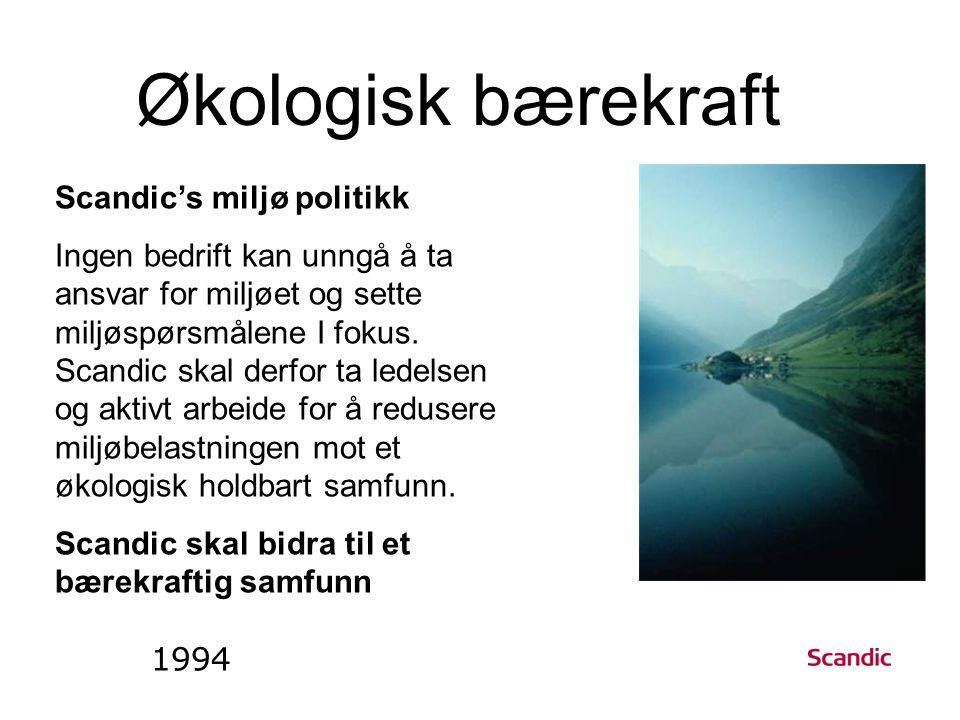 Scandic's miljø politikk Ingen bedrift kan unngå å ta ansvar for miljøet og sette miljøspørsmålene I fokus.