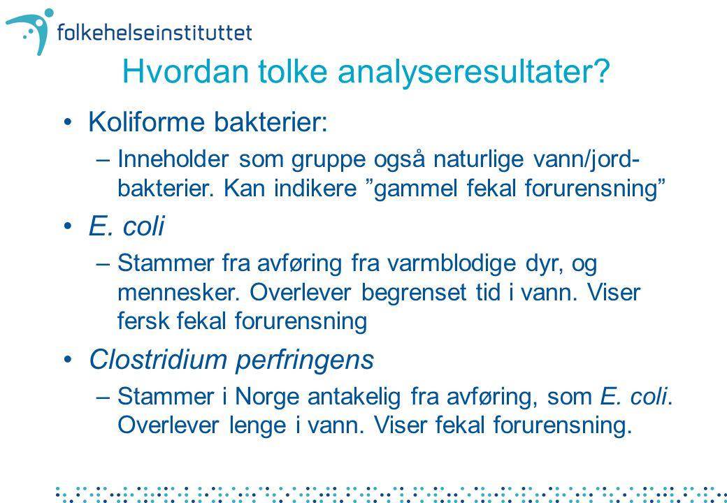 Hvordan tolke analyseresultater.