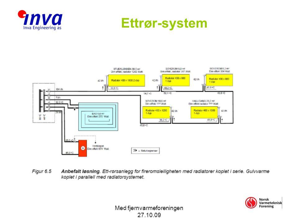 Med fjernvarmeforeningen 27.10.09 Ettrør-system