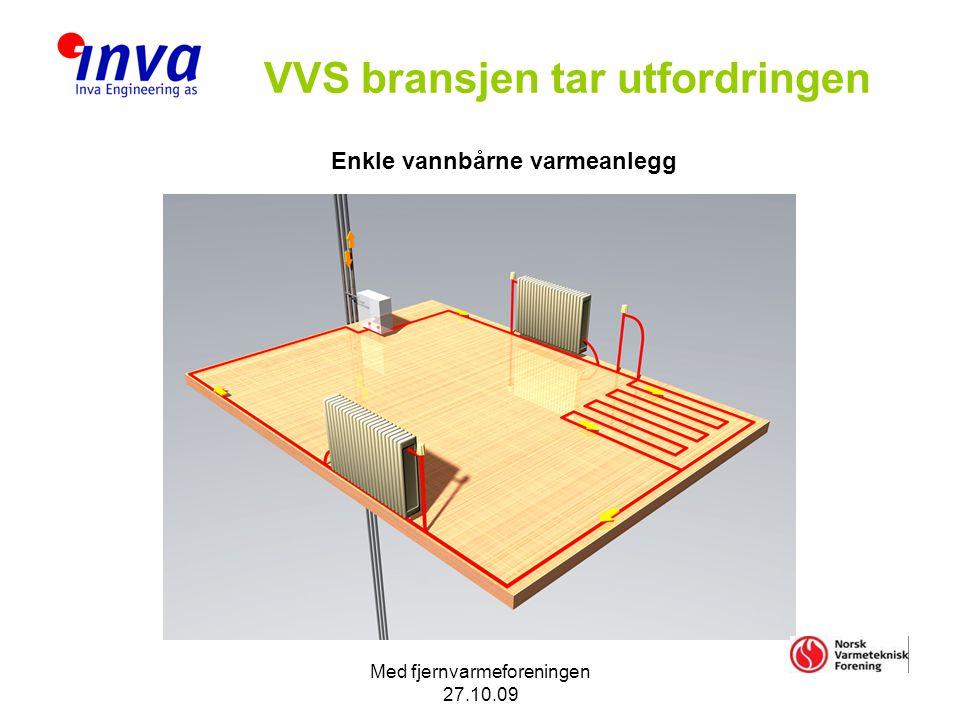 Med fjernvarmeforeningen 27.10.09 VVS bransjen tar utfordringen Enkle vannbårne varmeanlegg