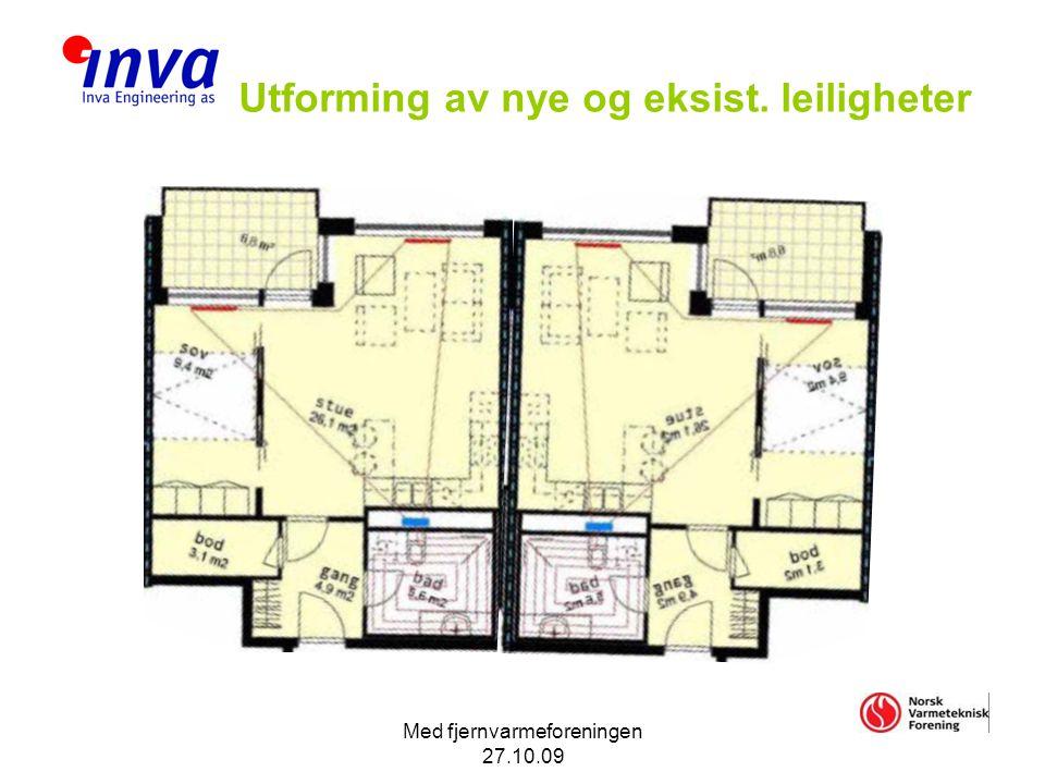 Med fjernvarmeforeningen 27.10.09 Utforming av nye og eksist. leiligheter