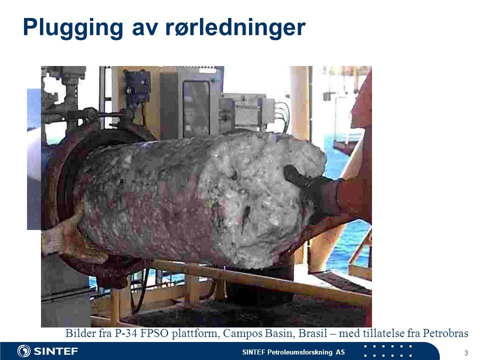 SINTEF Petroleumsforskning AS 14 En enklere hverdag i havet...