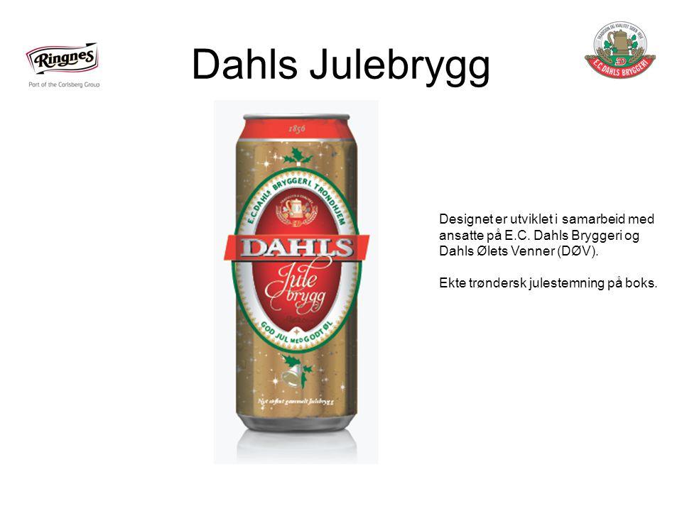 Dahls Julebrygg Designet er utviklet i samarbeid med ansatte på E.C.