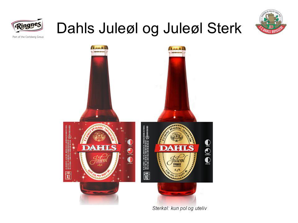 Dahls Juleøl og Juleøl Sterk Sterkøl: kun pol og uteliv