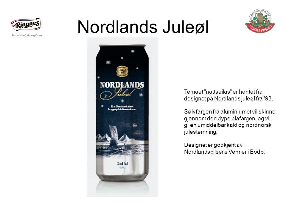 Nordlands Juleøl Temaet nattseilas er hentet fra designet på Nordlands juleøl fra '93.
