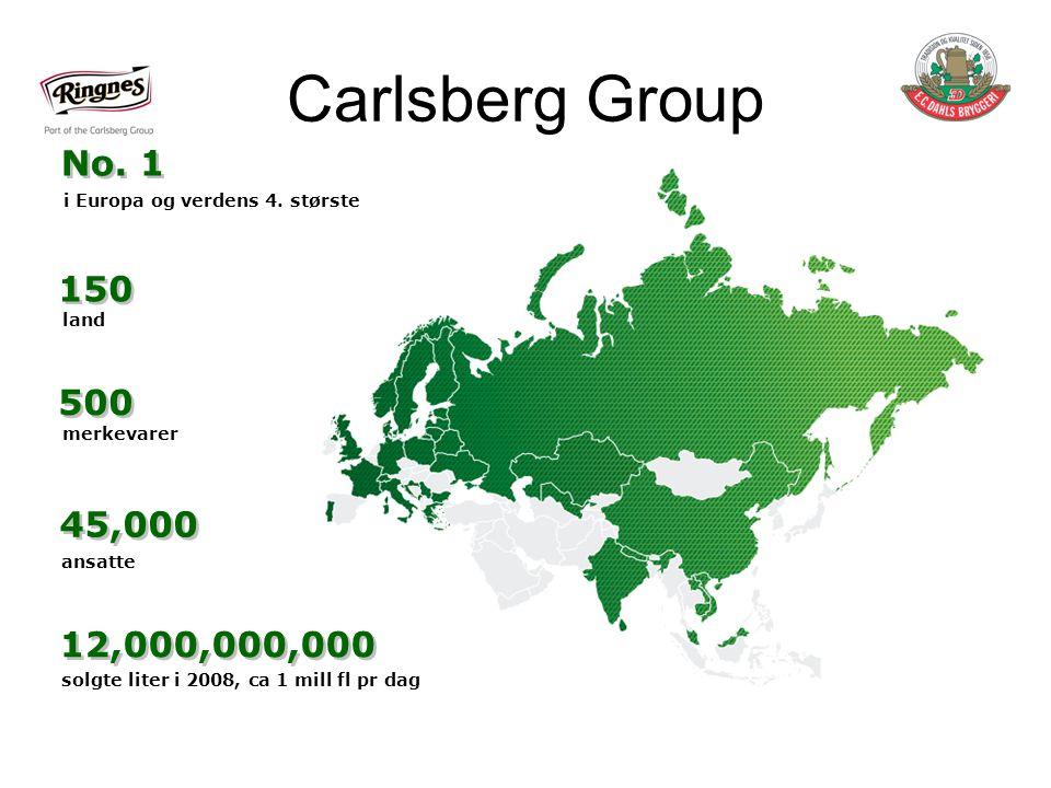Carlsberg Group No.1 i Europa og verdens 4.