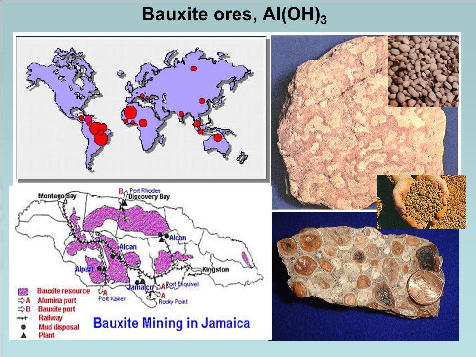 Bauxite ores, Al(OH) 3