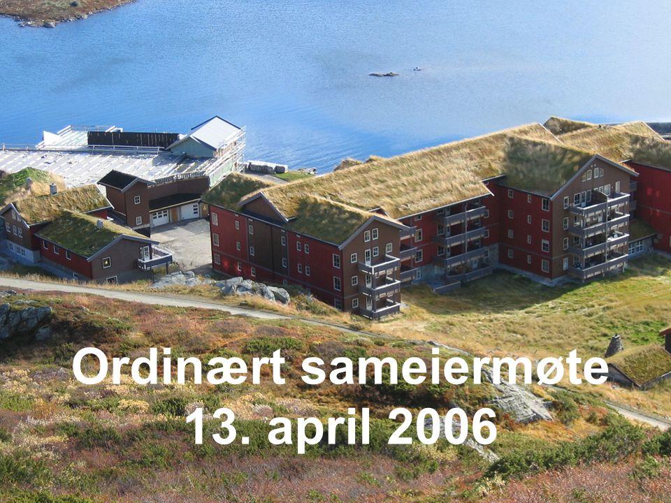 Agenda •Velkommen, registrering •Valg av 2 deltakere for underskrift av protokoll •Styrets årsberetning 2005 •Årsregnskap 2005 •Budsjett 2006 •Salgsutvikling og videre utbygging •Bergsjøområdet •Eventuelt