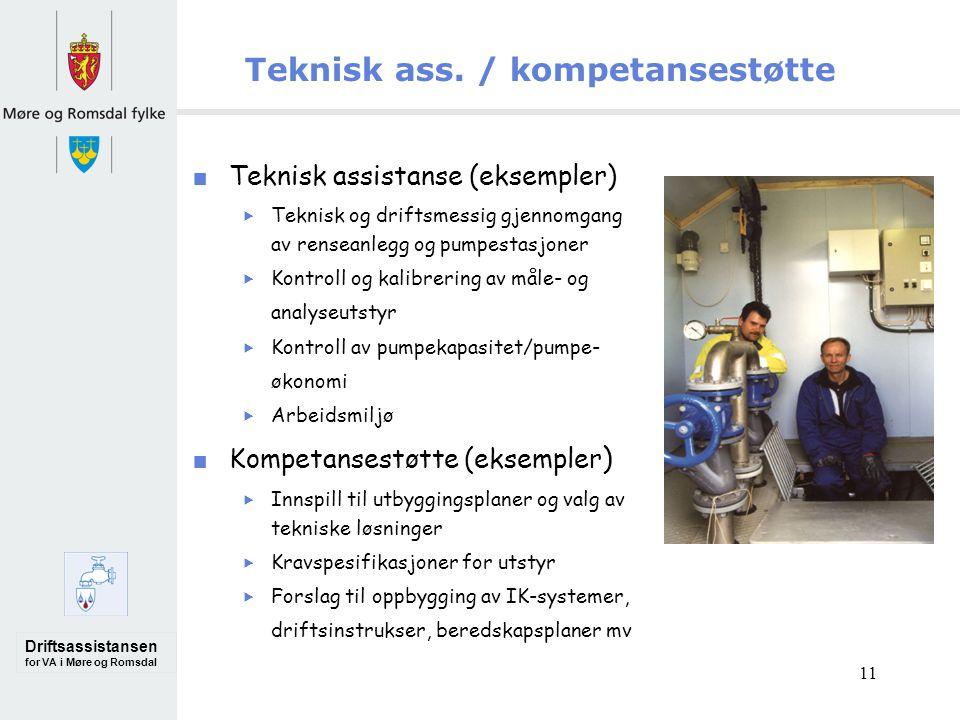 Driftsassistansen for VA i Møre og Romsdal 11 Teknisk ass.