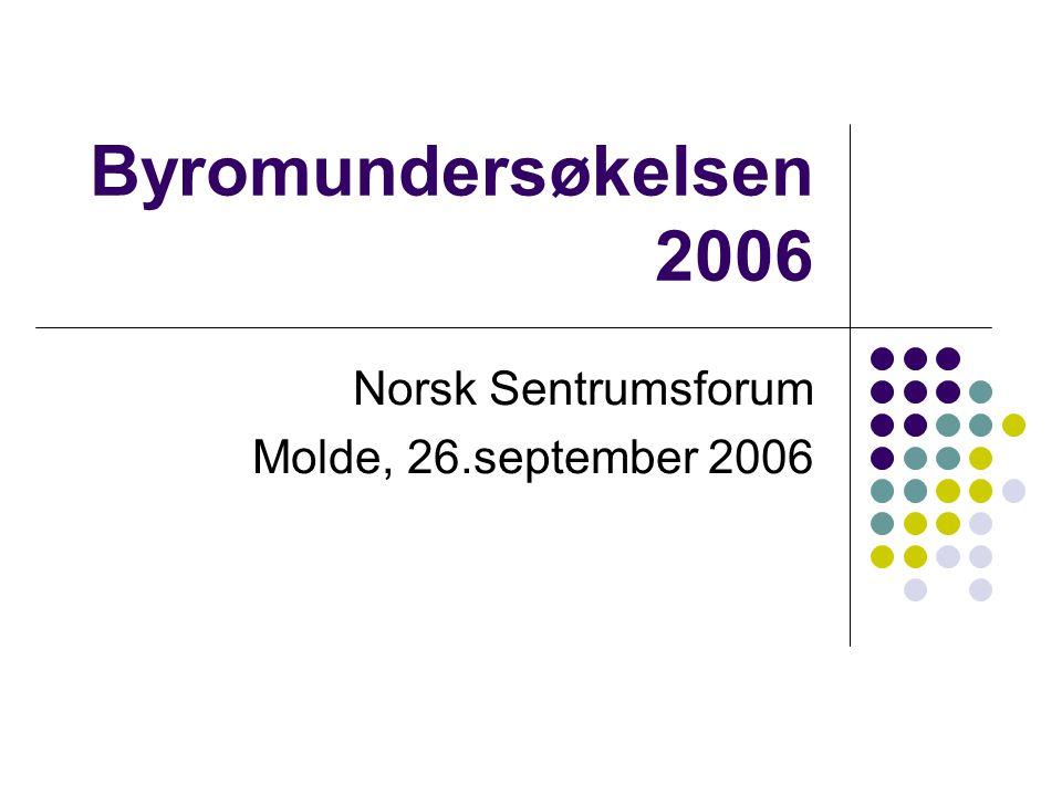 Byromundersøkelsen 2006  25 byer av 39 mulige svarte på undersøkelsen.
