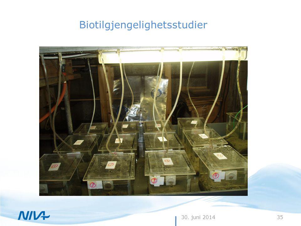 30. juni 201435 Biotilgjengelighetsstudier