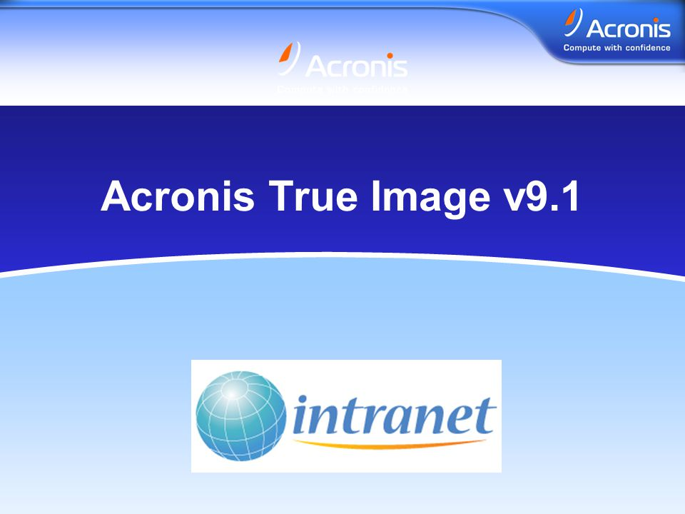 www.acronis.no Acronis True Image v9.1