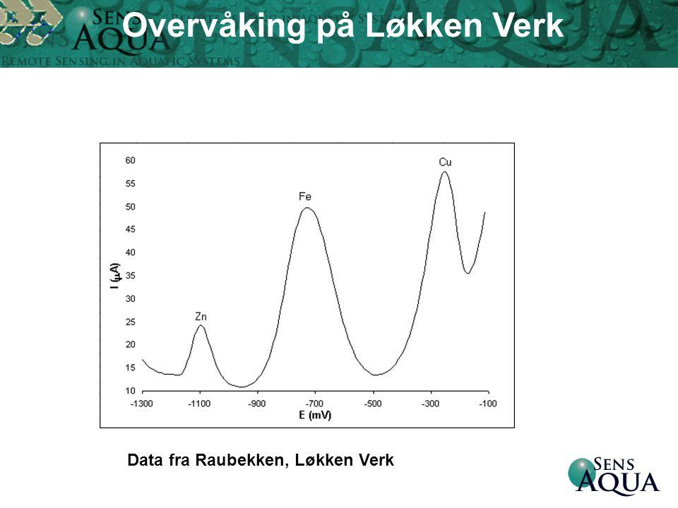 Data fra Raubekken, Løkken Verk Overvåking på Løkken Verk
